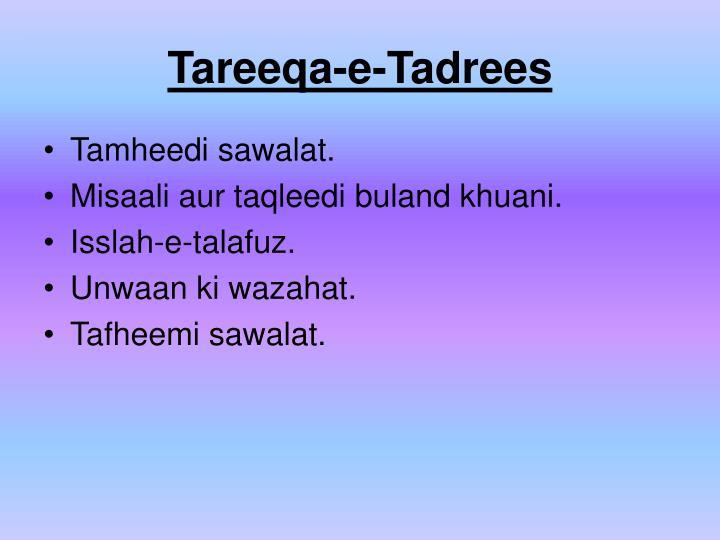 Tareeqa-e-Tadrees