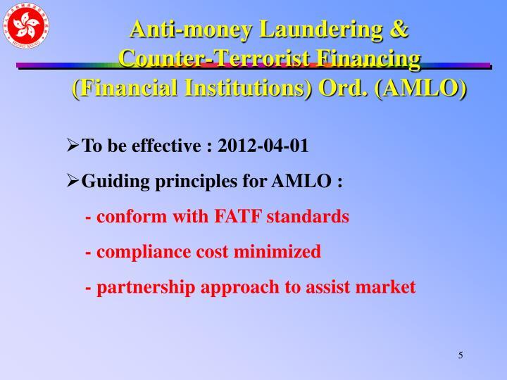 Anti-money Laundering &
