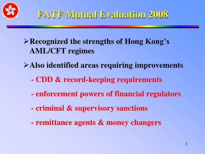 FATF Mutual Evaluation 2008