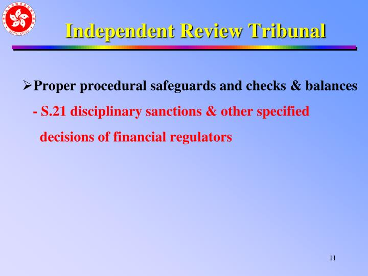 Independent Review Tribunal