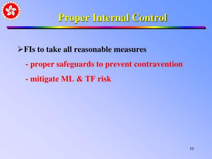 Proper Internal Control