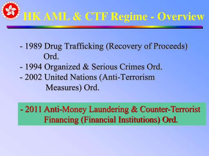1989 Drug Trafficking (Recovery of Proceeds)