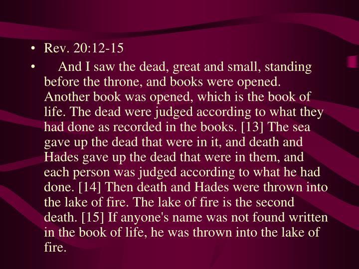 Rev. 20:12-15
