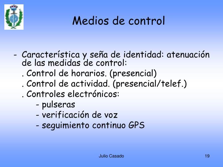 Medios de control
