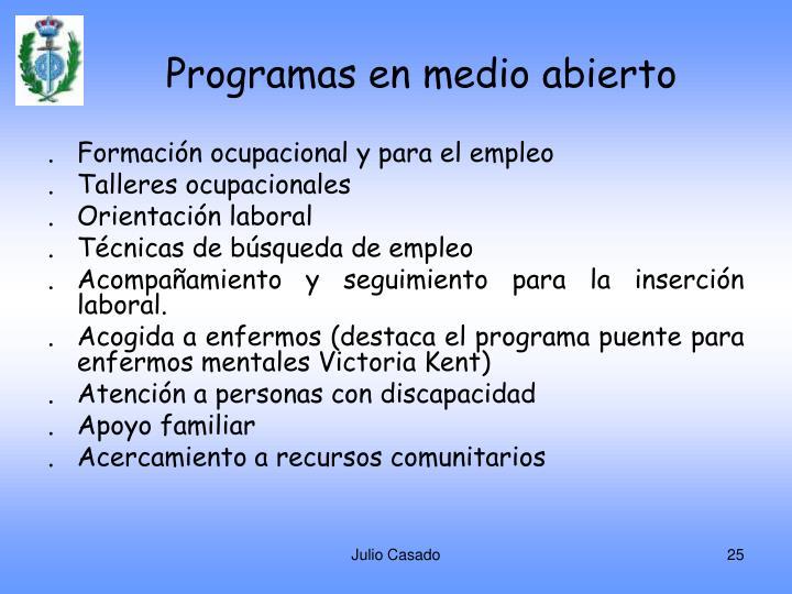 Programas en medio abierto
