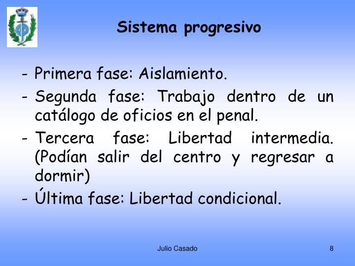 Sistema progresivo