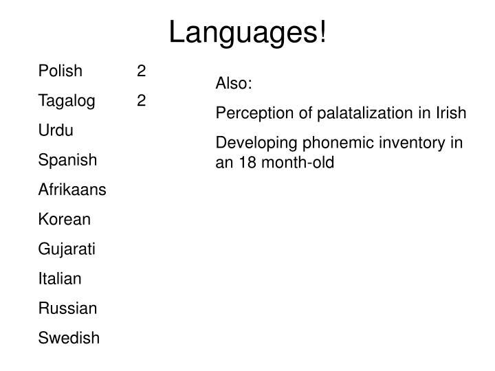 Languages!