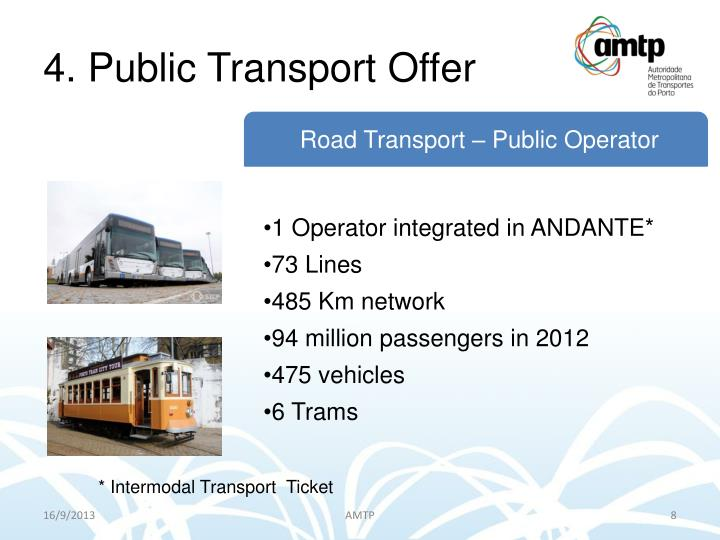 4. Public Transport Offer