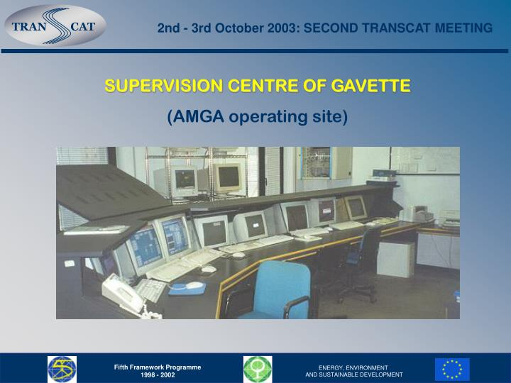 2nd - 3rd October 2003: SECOND TRANSCAT MEETING