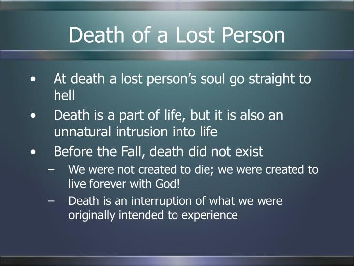Death of a Lost Person