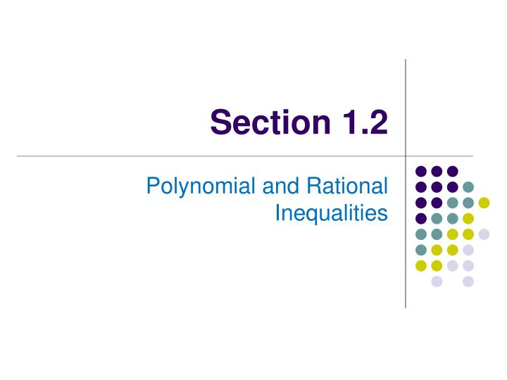 Section 1.2