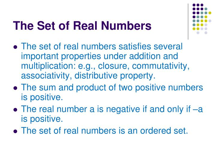The set of real numbers