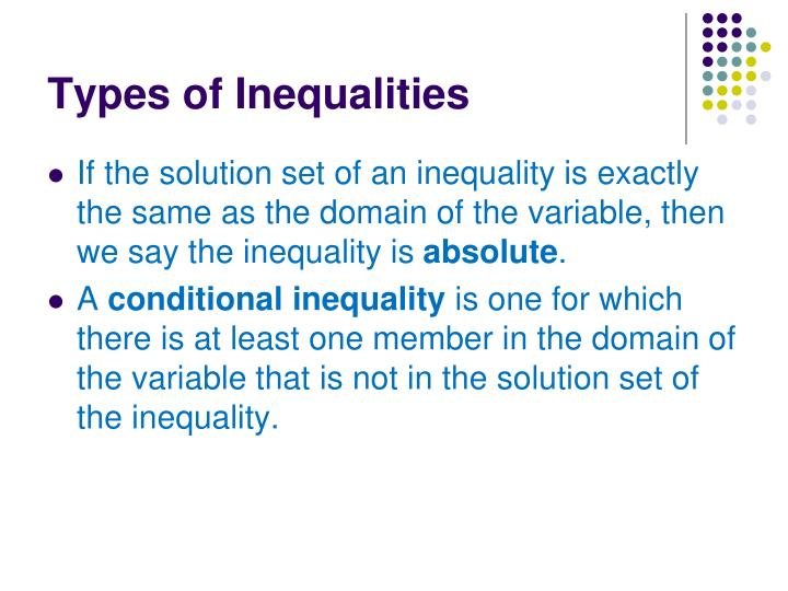 Types of Inequalities