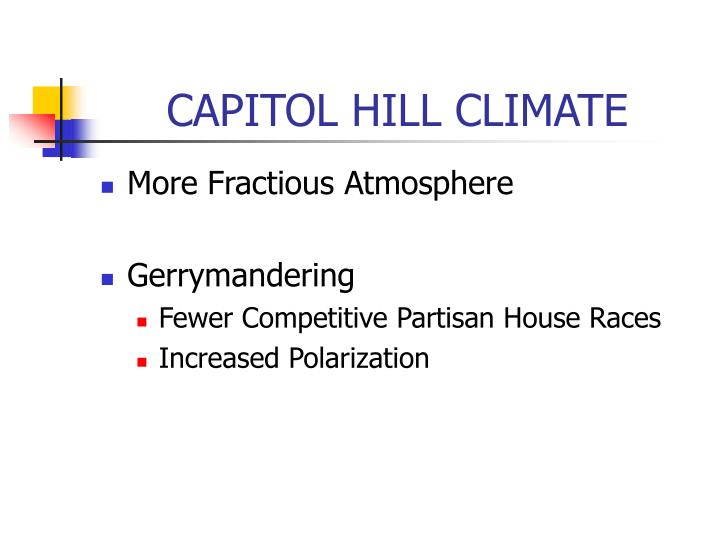 CAPITOL HILL CLIMATE