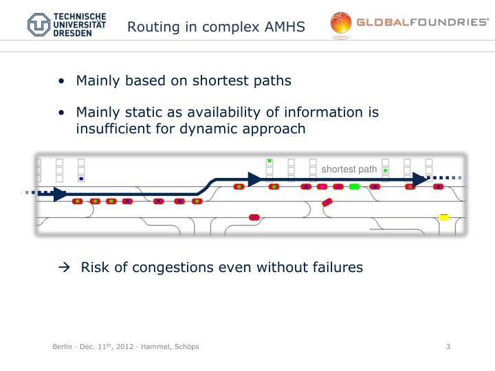 Routing in complex amhs