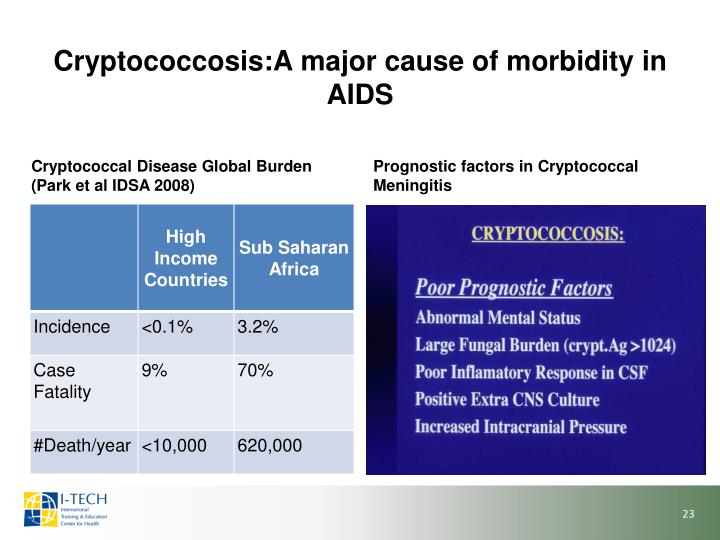 Cryptococcosis:A major cause of morbidity in AIDS