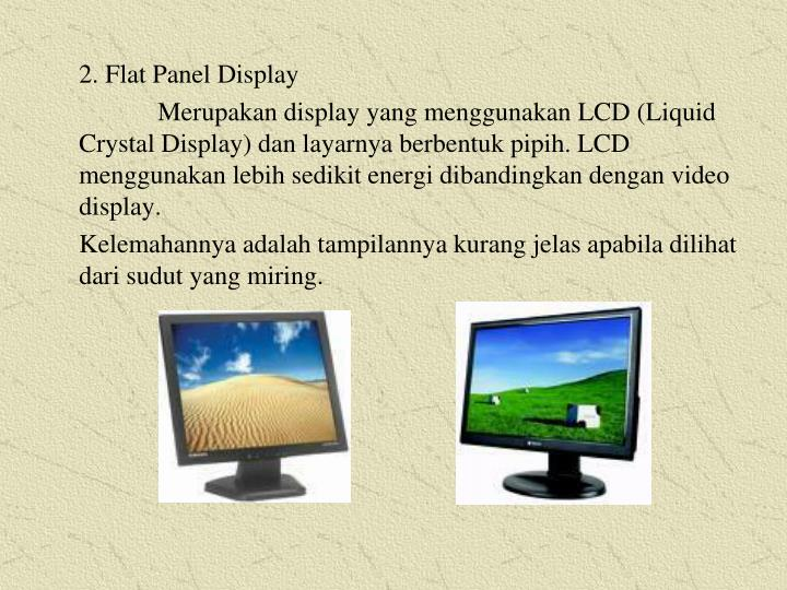 2. Flat Panel Display