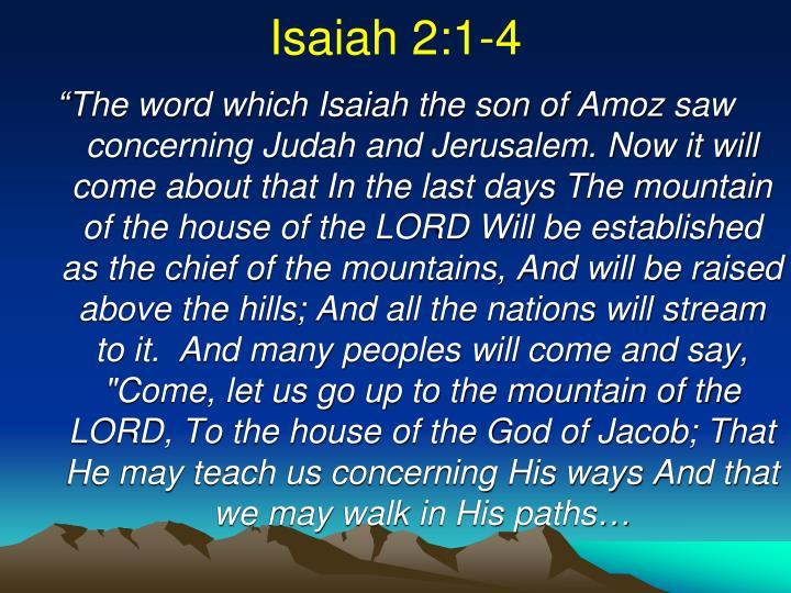 Isaiah 2:1-4