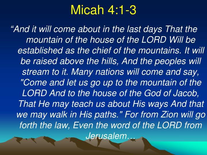Micah 4:1-3