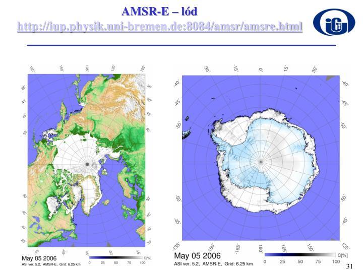 AMSR-E – lód