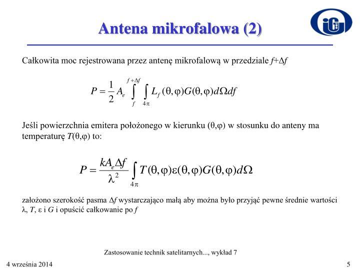 Antena mikrofalowa (2)