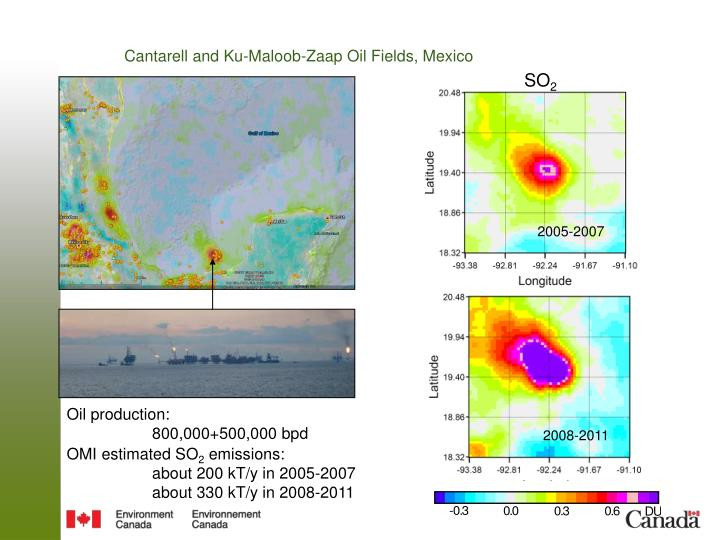 Cantarell and Ku-Maloob-Zaap Oil Fields, Mexico