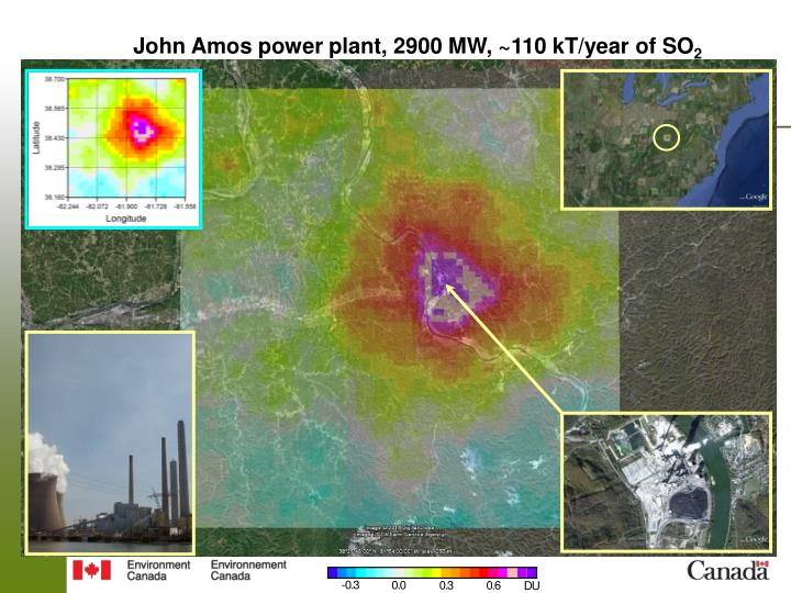 John Amos power plant, 2900 MW, ~110 kT/year of SO