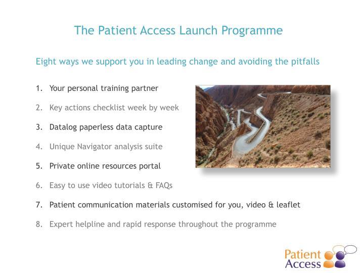 The Patient Access Launch Programme