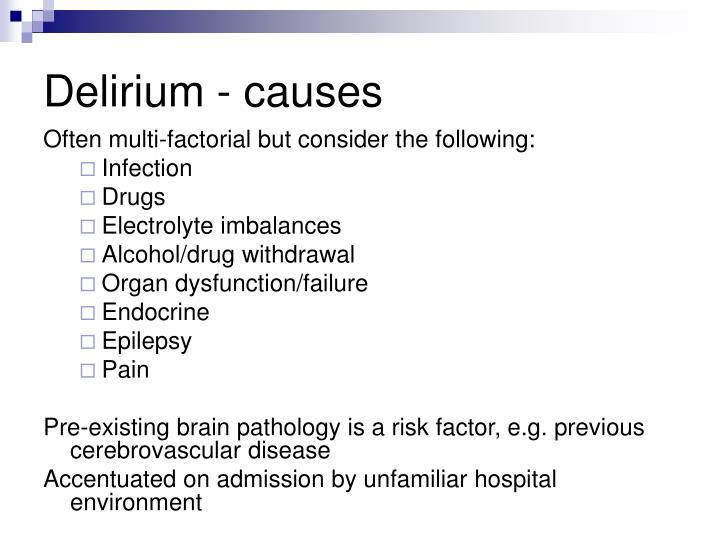 Delirium - causes