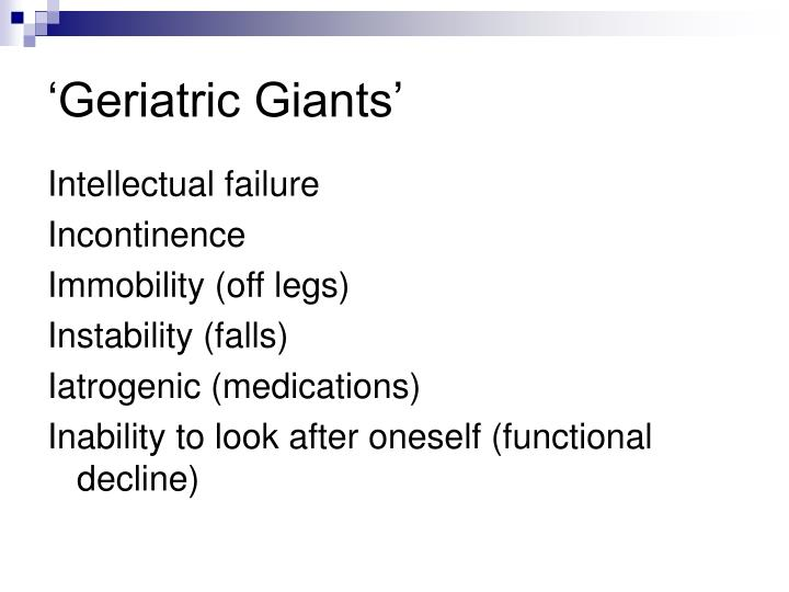 'Geriatric Giants'