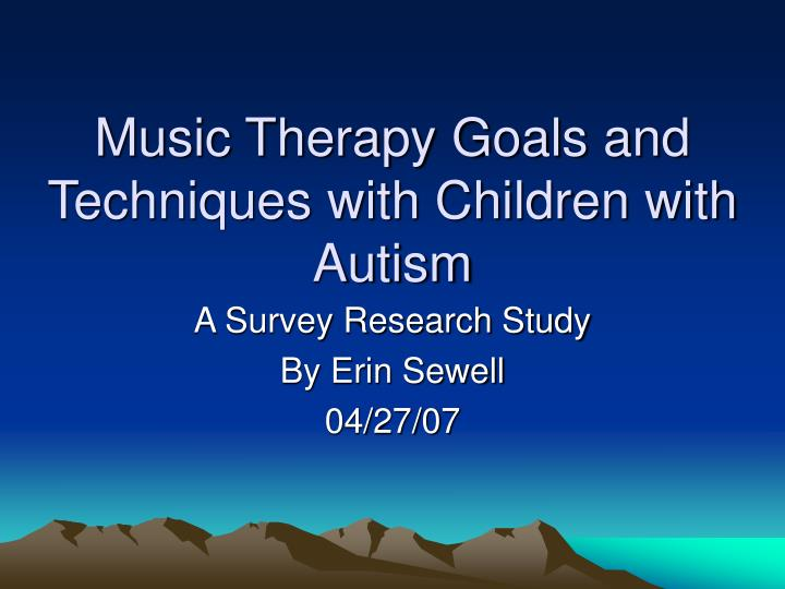 music therapy case study autism Case studies in music therapy [kenneth e bruscia] on amazoncom free shipping on qualifying offers forty-two case histories, each describing the process of music therapy from beginning to end.