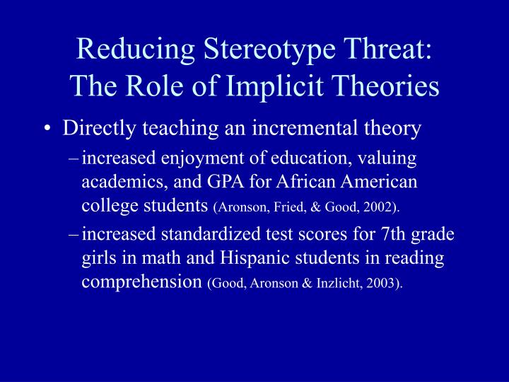 Reducing Stereotype Threat: