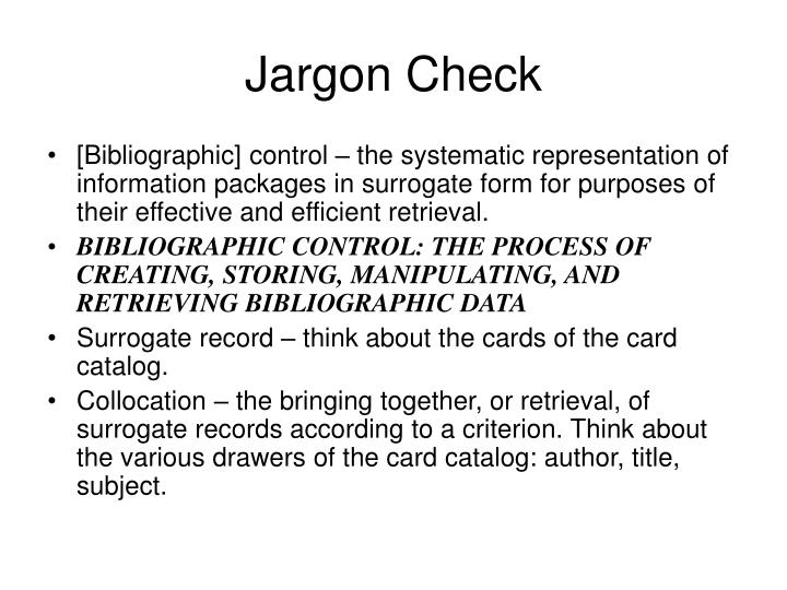 Jargon Check