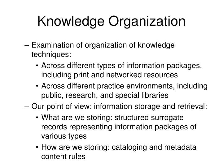 Knowledge Organization