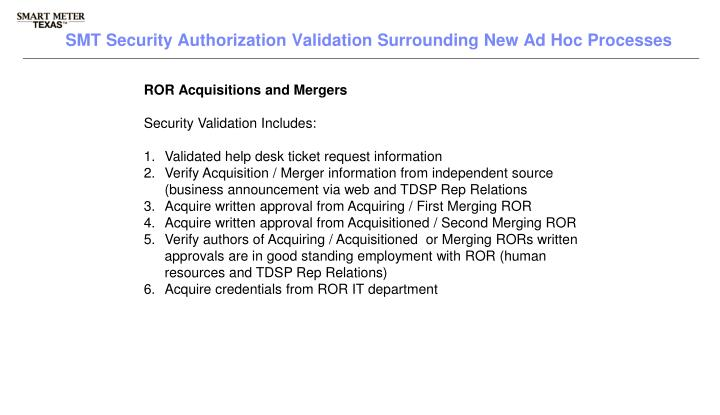 ROR Acquisitions and Mergers