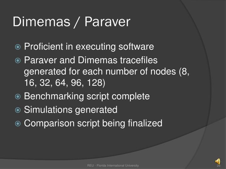 Dimemas / Paraver