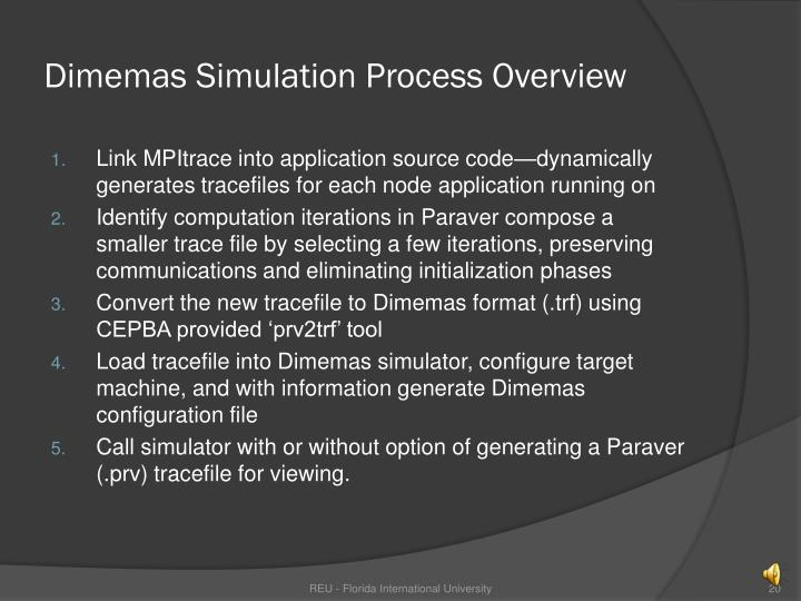 Dimemas Simulation Process Overview