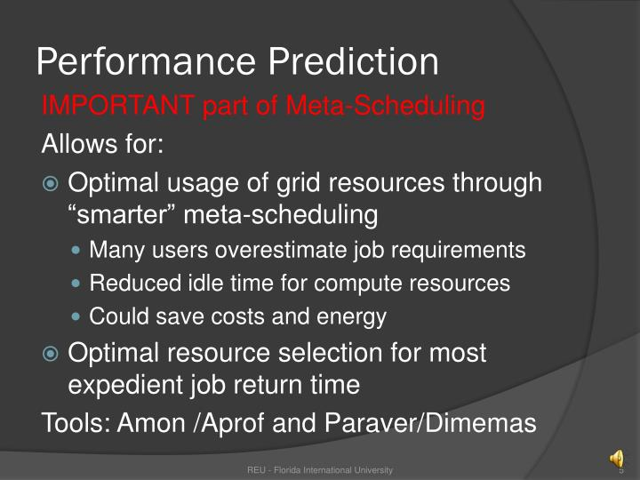 Performance Prediction