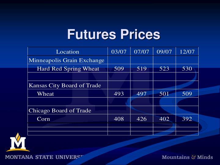 Futures Prices