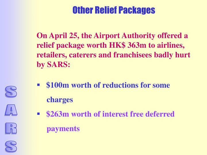 Other Relief Packages