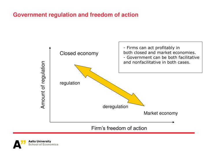 Government regulation and freedom of action