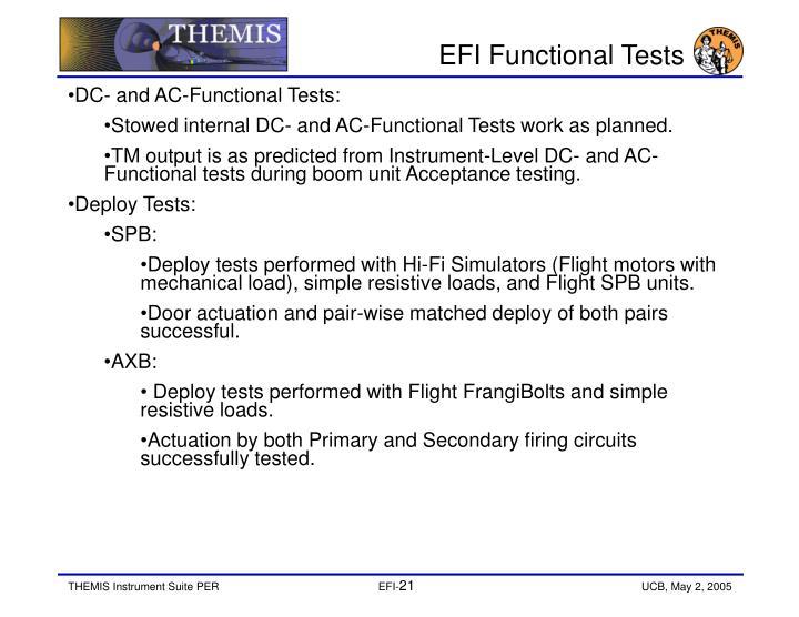 EFI Functional Tests