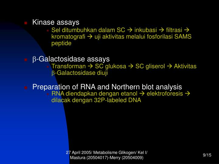 Sel ditumbuhkan dalam SC