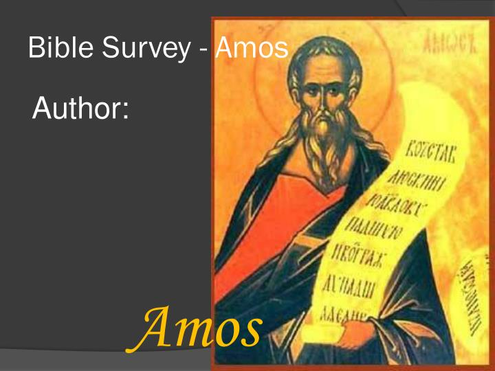 Bible survey amos1