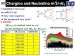 chargino and neutralino in 3 e t