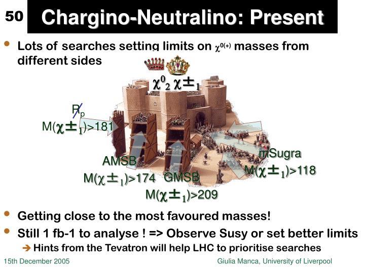 Chargino-Neutralino: Present