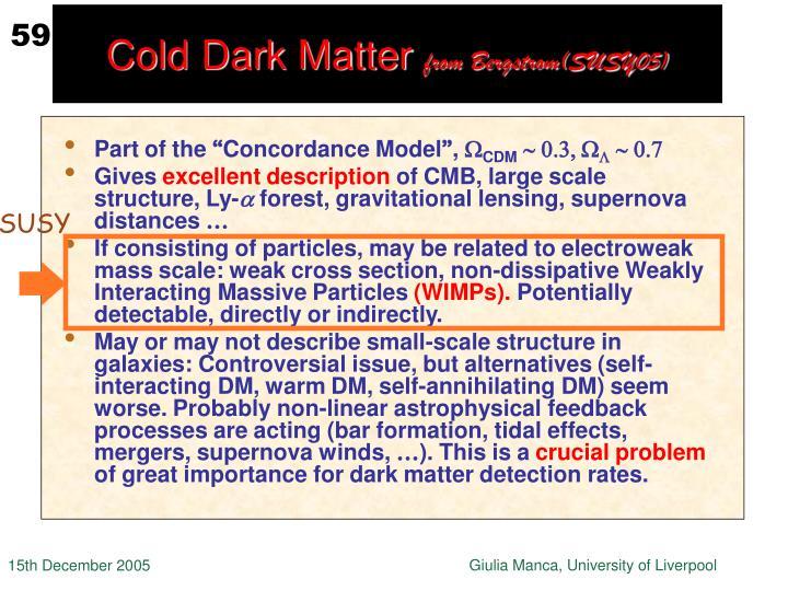 Cold Dark Matter