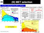 iii met selection