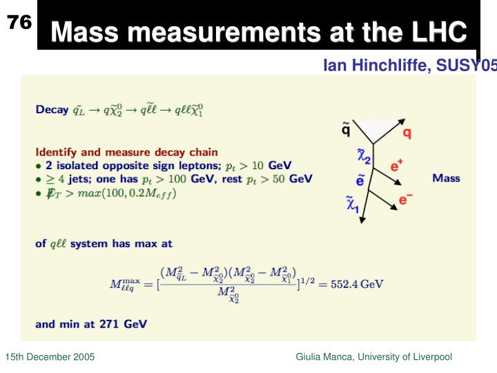 Mass measurements at the LHC