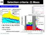 selection criteria i mass
